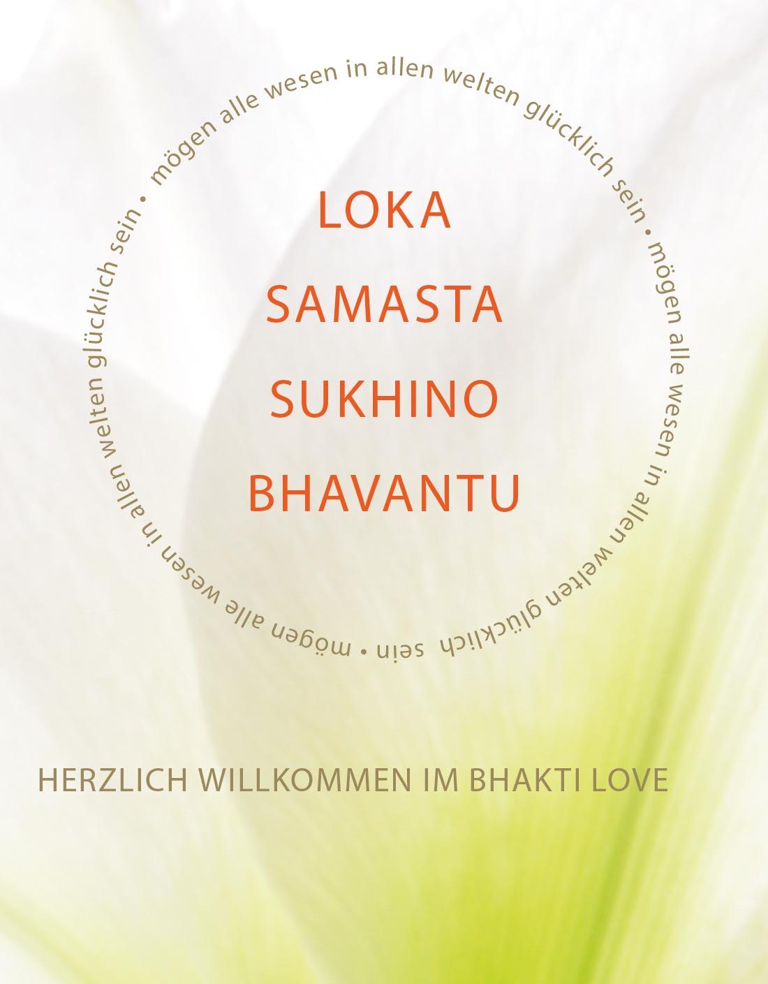 Herzlich willkommen im Bhakti Love